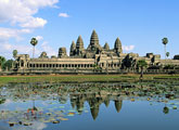 Angkor Wat temple and moat